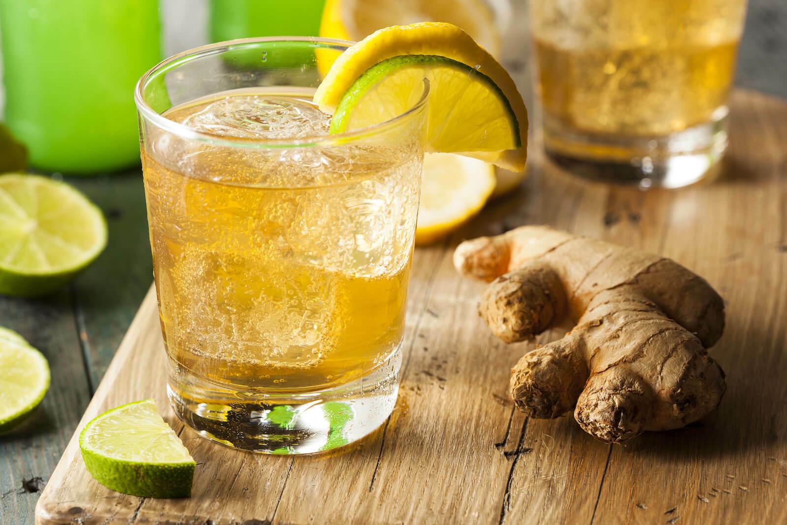 Ginger ale benefits: Organic ginger ale soda